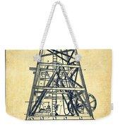 Oil Well Rig Patent From 1893 - Vintage Weekender Tote Bag