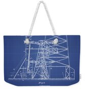 Oil Well Rig Patent From 1917 - Blueprint Weekender Tote Bag