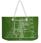 Oil Well Rig Patent From 1917- Green Weekender Tote Bag