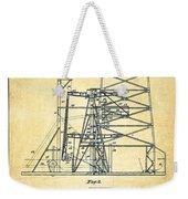 Oil Well Rig Patent From 1917- Vintage Weekender Tote Bag