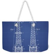 Oil Well Rig Patent From 1927 - Blueprint Weekender Tote Bag