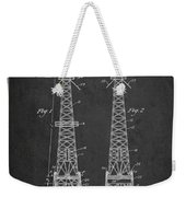 Oil Well Rig Patent From 1927 - Dark Weekender Tote Bag