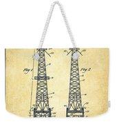 Oil Well Rig Patent From 1927 - Vintage Weekender Tote Bag