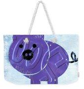 Oink The Pig License Plate Art Weekender Tote Bag