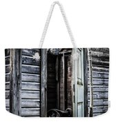 Old Abandoned Well House With Door Ajar Weekender Tote Bag by Edward Fielding