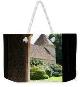 Old Abbey Church Door - Abbey Fontenay Weekender Tote Bag