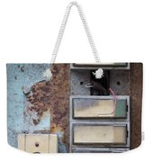 Old And Damaged Doorbells Weekender Tote Bag