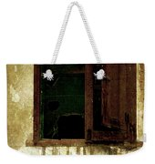 Old And Decrepit Window Weekender Tote Bag