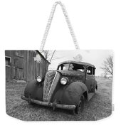 Old And Forgotten Black And White Weekender Tote Bag