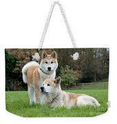 Old And Young Akita Inu Weekender Tote Bag