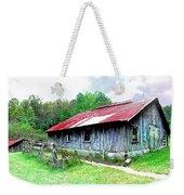 Old Barn Along Golden Road Filtered Weekender Tote Bag