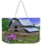 Old Barn And Flowers Weekender Tote Bag