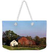 Old Barn At Sunset Weekender Tote Bag