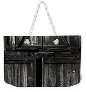 Old Barn Door - Bw Weekender Tote Bag