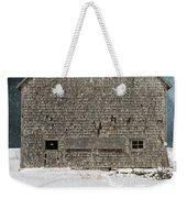 Old Barn In A Snow Storm Weekender Tote Bag