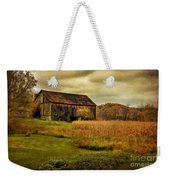 Old Barn In October Weekender Tote Bag