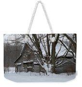 Old Barn In Winter Weekender Tote Bag