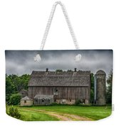 Old Barn On A Stormy Day Weekender Tote Bag