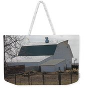 Old Barn With New Roof Weekender Tote Bag