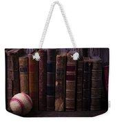 Old Baseball And Books Weekender Tote Bag