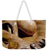 Old Baseball Ball And Gloves Weekender Tote Bag