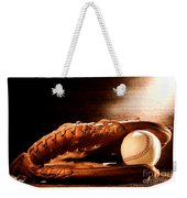 Old Baseball Glove Weekender Tote Bag