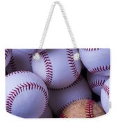 Old Baseball With New Ones Weekender Tote Bag
