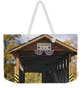 Old Bedford Village Covered Bridge Entrance Weekender Tote Bag