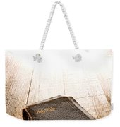 Old Bible In Divine Light Weekender Tote Bag