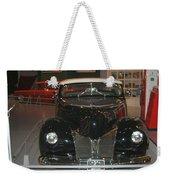 Old Black And White Hardtop Weekender Tote Bag
