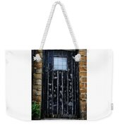 Vintage Cottage Black Door Weekender Tote Bag