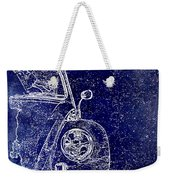 Old Blue Beetle Weekender Tote Bag