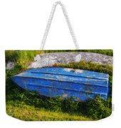 Old Blue Boat Weekender Tote Bag