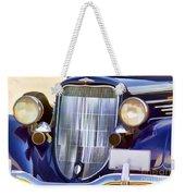 Old Blue Car Weekender Tote Bag
