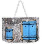 Old Blue Shutters Weekender Tote Bag
