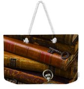Old Books And Pocketwatch Weekender Tote Bag