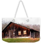 Old Brown Barn Along Golden Road Weekender Tote Bag