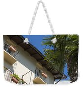 Old Building And Palm Trees Weekender Tote Bag