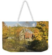 Old Buildings And Fall Colors In Vienna Maine Weekender Tote Bag by Keith Webber Jr