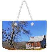 Old Cabin And Tree Weekender Tote Bag