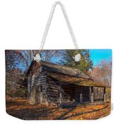 Old Cabin In The Woods Weekender Tote Bag