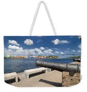 Old Cannon And Queen Juliana Bridge Curacao Weekender Tote Bag