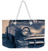 Old Car In Front Of Garage Weekender Tote Bag