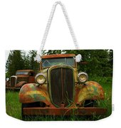 Old Cars Left To Decorate The Weeds Weekender Tote Bag