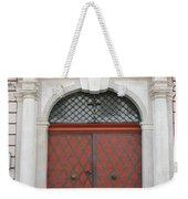 Old Carved Red  Door Weekender Tote Bag