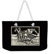 Old Case Thresher - Black And White Weekender Tote Bag