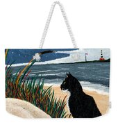 Old Cat And The Sea Weekender Tote Bag