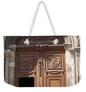 Old Church Door Cathedral Autun Weekender Tote Bag