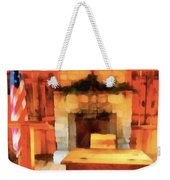 Old Classroom And Desk Weekender Tote Bag