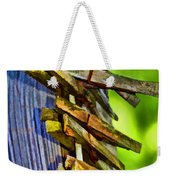 Old Clothes Pins II - Digital Paint Weekender Tote Bag